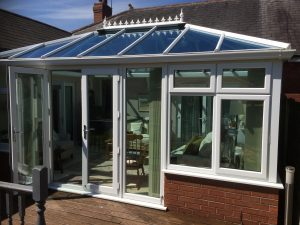 Glass roof conservatory like new again